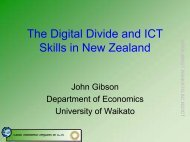 The Digital Divide and ICT Skills in New Zealand