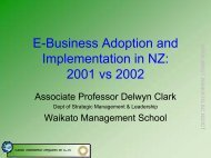E-Business Adoption and Implementation in NZ - Waikato ...