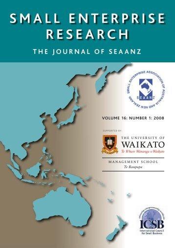 small enterprise research - Waikato Management School - The ...