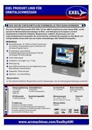 Innovation, Qualität, Verfügbarkeit - Arc Machines, Inc.