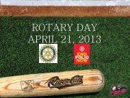 ROTARY DAY APRIL 21, 2013 - Woodland Rotary