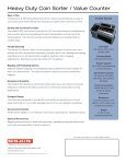 Heavy Duty Coin Sorter / Value Counter - World Micrographics, Inc - Page 2