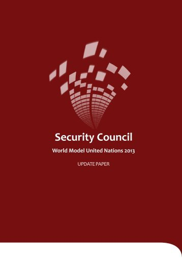 Security Council Update Paper - World Model United Nations