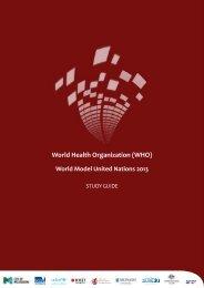 World Health Organization (WHO) - World Model United Nations