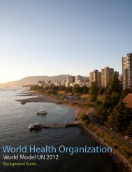 World Health Organization - World Model United Nations
