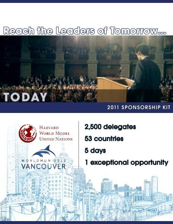 Reach the Leaders of Tomorrow... - World Model United Nations
