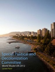 Special Political and Decolonization Committee - World Model ...