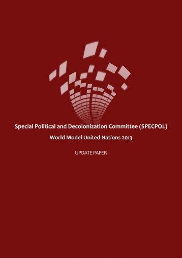 SPECPOL Update Paper - World Model United Nations