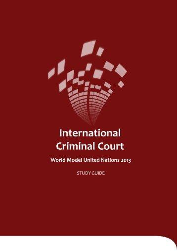 International Criminal Court - World Model United Nations