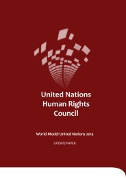 UNHRC Update Paper - World Model United Nations