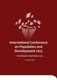 ICPD 2013 Update Paper - World Model United Nations