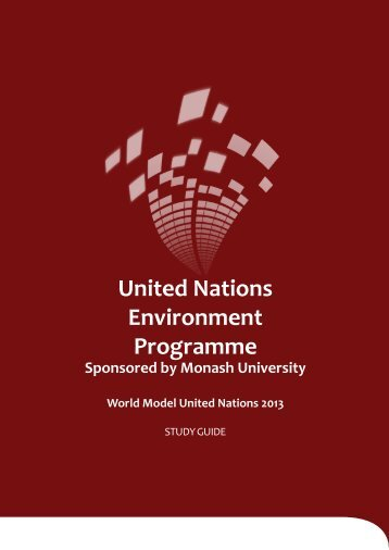 UNEP Study Guide - World Model United Nations