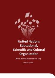 UNESCO Update Paper - World Model United Nations
