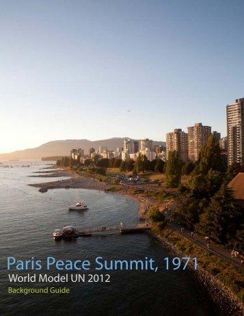 Paris Peace Summit, 1971 - World Model United Nations