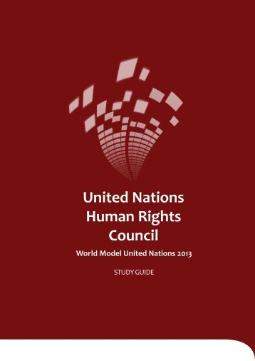 UNHRC Study Guide - World Model United Nations