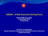 ASEAN – A New Economic Driving Force - HKTDC World SME Expo