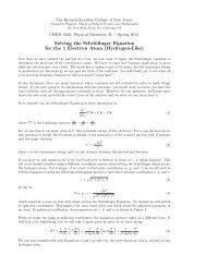 Hydrogen atom handout - Richard Stockton College of New Jersey