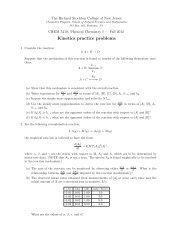 Kinetics practice problems - Richard Stockton College of New Jersey