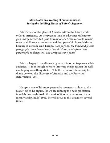 Analytical Essay Thesis Notes On A Reading Of Common Sense  Sample Essay Topics For High School also Sample Essays High School Common Sense By Thomas Paine How To Write A Synthesis Essay