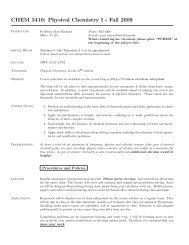 PChem I: Syllabus from Fall 2009 - Richard Stockton College Word ...