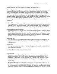 YouTube Class Project Assignment Handout