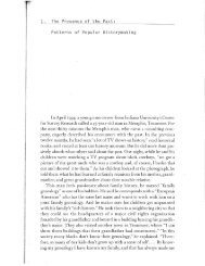 Roy Rosenzweig and David Thelen, The Presence of the Past