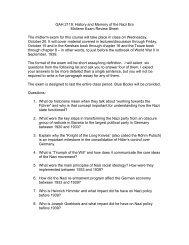 GAH2119 Midterm Study Sheet