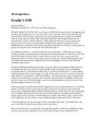 "Raines Howell, ""Grady's Gift,"" New York Times Magazine"