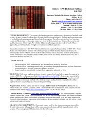 History 2152: North American History to 1789 - Richard Stockton ...