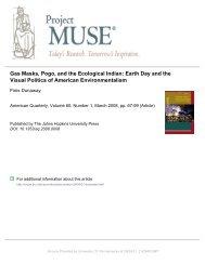 Gas Masks, Pogo, and the Ecological Indian - Richard Stockton ...