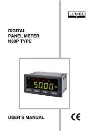 DIGITAL PANEL METER N30P TYPE USER'S MANUAL - Wpa.ie