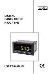 DIGITAL PANEL METER N30O TYPE - Wpa.ie