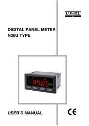 DIGITAL PANEL METER N30U TYPE USER'S MANUAL - Wpa.ie