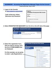 GuideBook - 1 - Accessing Reg Mgr Pages