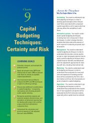 Capital Budgeting Techniques: Certainty and Risk