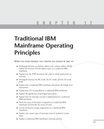 Traditional IBM Mainframe Operating Principles - FTP Directory Listing