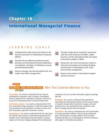 Chapter 18 International Managerial Finance