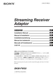 Streaming Receiver Adaptor - Sony