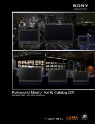 Professional Monitor Family Catalog 2011 - Sony