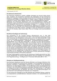 Kurzinformation für Behörden und sonstige ... - Freistaat Sachsen