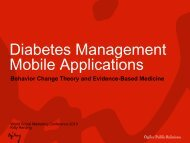 Diabetes Management Mobile Applications - World Social Marketing ...
