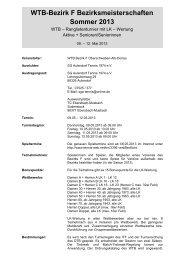 Ausschreibung - WTB