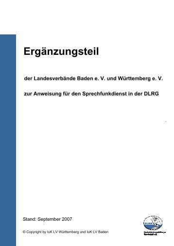 Ergänzungsteil - Landesverband Württemberg e.V. - DLRG