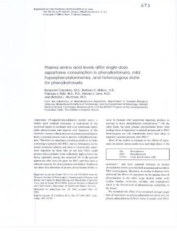 Plasma amino acids essay
