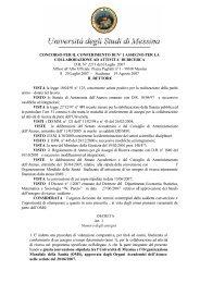 DI RICERCA DR N° 2271 del 6 Luglio 2007 I - Università degli Studi ...