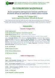 IX CONGRESSO NAZIONALE - Università degli Studi di Messina