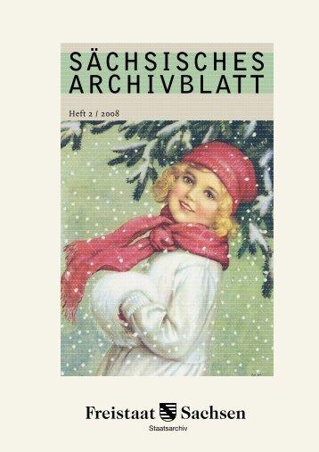SÄCHSISCHES ARCHIVBLATT - Archivwesen - Freistaat Sachsen