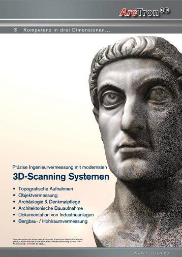 Arctron 3 D 3d-Scanning Systemen