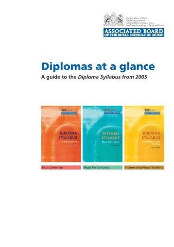 diplomas at a glance - ABRSM