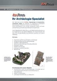 Arctron Ihr Archäologie-Spezialist